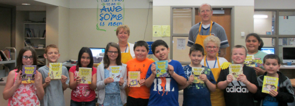 Jensen Elementary Students Receiving Lunch Lady Book Series_site