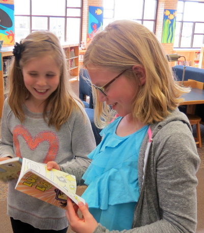 Webster Elementary Students Reading Lunch Lady Book Series_site