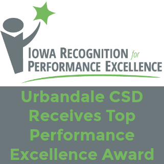 Urbandale CSD Receives Top Performance Excellence Award
