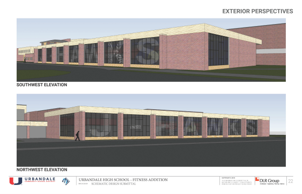 UHS Fitness Center Northwest and Southwest Exterior Perspectives_site