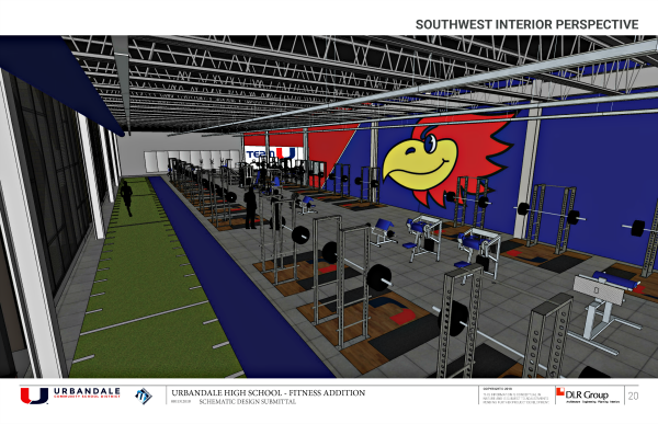 UHS Fitness Center Southwest Interior Perspective_site